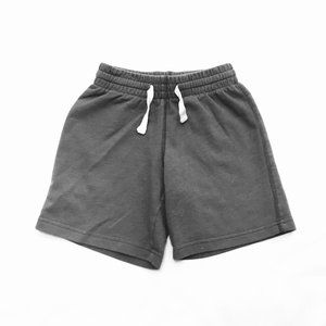Grey Cotton Pull On Shorts